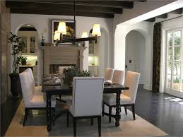 Contemporary Dining Area Traditional Dining Room Orange
