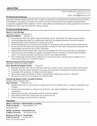 Resume For Mental Health Counselor Inspirational Medical Records Examples Of Resumes