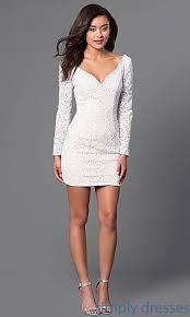 long sleeve jvn jovani short lace party dress