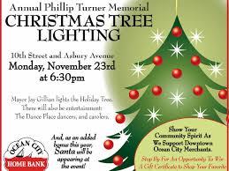 Christmas Tree Shop Deptford Nj Number by Ocean City Home Bank Christmas Tree Lighting Monday Ocean City