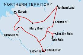 Map Of Top End And Arnhem Land Adventure Including Australia