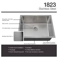 Ferguson Stainless Steel Kitchen Sinks by 1823 18 Gauge Undermount Single Bowl 3 4 Inch Radius Stainless