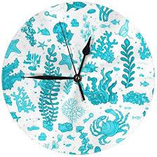 de kasonj blue summer unterwasser wanduhr modern
