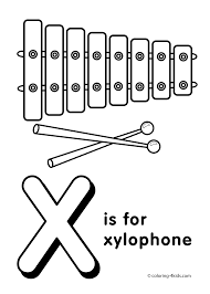 Letter X Coloring Pages Alphabet Words