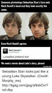 Dank And Via Someone Photoshops Sebastian Stans Face Onto Mark Hamills Head