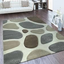 design teppich wohnzimmer stein optik 3 d