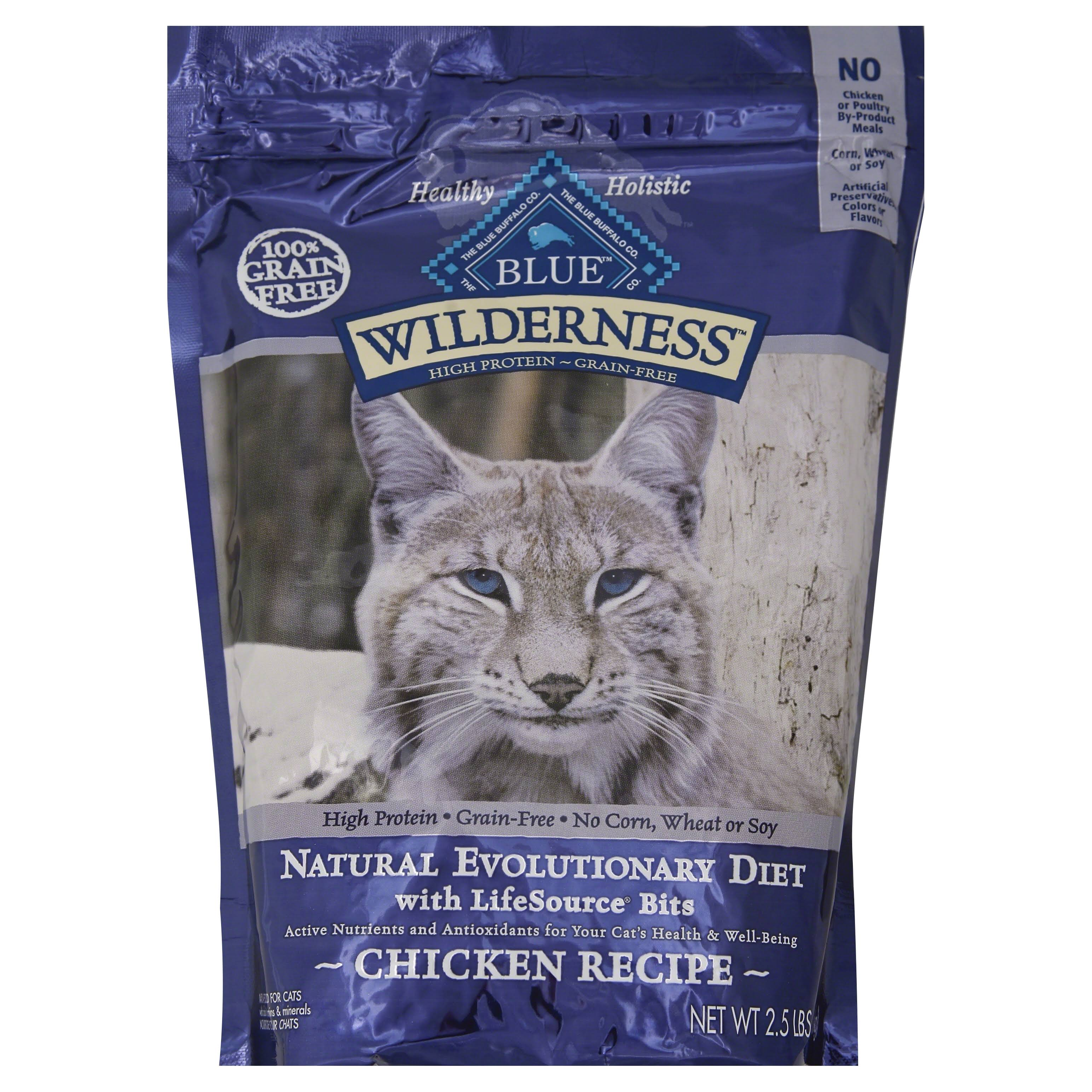 Blue Buffalo Wilderness Dry Cat Food - Chicken, 2.5lb