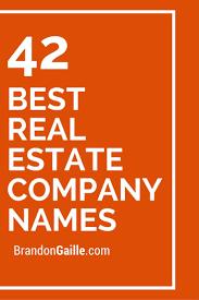 25 unique Real estate pany names ideas on Pinterest
