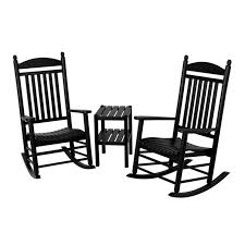 Outdoor POLYWOOD® Jefferson 3 Pc. Recycled Plastic Rocker ... Surprising Oversized White Rocking Chair Decorating Baby Outdoor Polywood Jefferson 3 Pc Recycled Plastic Rocker 10 Best Chairs Womans World Presidential Black 3piece Patio Set Hanover Allweather Pineapple Cay Porch Good Looking Gripper Cushions Ding Room Xiter Bamboo Adjustable Lounge Leisure Iron Alloy Waterproof Belt Parryville Classic Wicker Wood