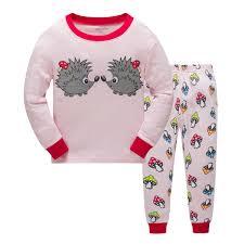 2018 New Baby Pajamas Outfits Cotton Boys Girls Animal Dinosaur ...