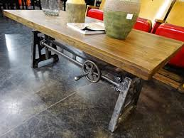 Stunning Idea Rustic Industrial Furniture Inspiring Denver Store Crank Coffee Table