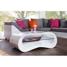 table basse blanc laqué design design en image