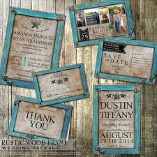 Rustic Wedding Invitation And Stationery Set Turquoise