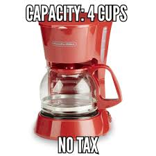 Red Proctor Silex 48133 4 Cup Coffee Maker Vintage Glass No Tax