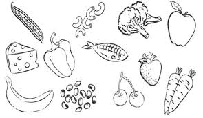 Coloring Pages Of Food Good Healthy Foods