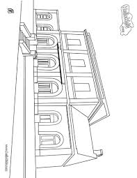 Train Station Coloring Page