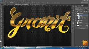 Tutorial shop CS6 [HD] How to make Pattern and Gold Text