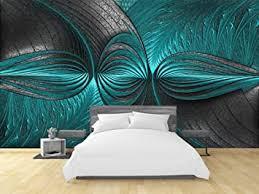 moderne 3d wand papiere türkis grün wandmalerei fototapete