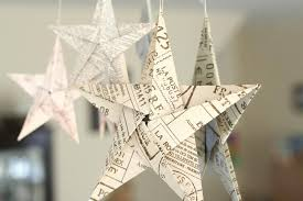 5 Pointed Origami Stars Hanging On Mirror