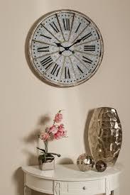 casa padrino wanduhr im retro design antik silber runde metall wanduhr mit römischen stundenzahlen