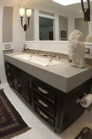Trough Sink With Two Faucets by One Sink Two Faucets And Lighting Fixture Design In Bathroom