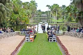 Evelyn and Michael Fairchild Tropical Garden Wedding Miami