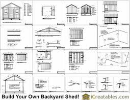 Free 8x8 Shed Plans Pdf by 12x16 Shed With Porch Icreatables