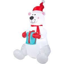 Walmart Halloween Blow Up Decorations by Gemmy Airblown Christmas Inflatables 6 U0027 Polar Bear Walmart Com