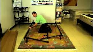 how to install bed frame knickerbocker 4650g youtube