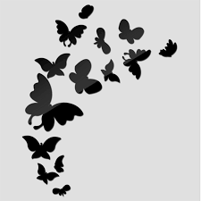 2017 sale promotion butterfly mirror wall stickers kid room