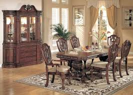 Dining Room Set With China Cabinet 9 Piece Formal New Black