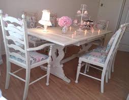 Shabby Chic Dining Room by Wonderful Dining Table Painted Cottage Chic Shabby White French