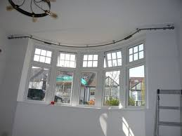 Bendable Curtain Rod For Oval Window by Best 25 Bay Window Curtain Rod Ideas On Pinterest Bay Window