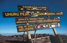 049 Sign Board At Uhuru Peak On The Roof Of Africa Goal Many