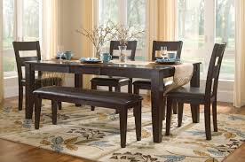 Round Dining Room Set For 4 by Lincoln Table With 4 Side Chairs And Bench Dock86 Spend A Good