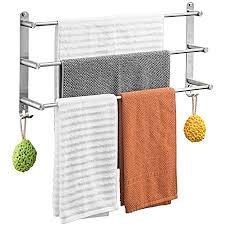 handtuchhalter rack edelstahl gebürstet 3 schicht handtuchhalter wand badetuch aufhänger für badezimmer dusche 6 größen verfügbar