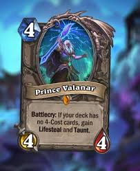 Hearthstone Taunt Deck 2017 by Prince Valanar Has All Of The Effects U2014if You Build Your Deck Right