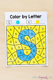 Color By Letter Alphabet Printables Discover The Mystery