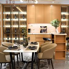 100 Wine Room Lighting Suofeiya Modern Simple Veneer Wooden Dining Bar Display Cabinet With Glass Door Buy Modern Display CabinetWood Whisky Display