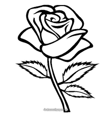 One Flower Stalk Coloring Pages For Kids Printable Flowers