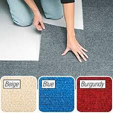 amazon com peel stick berber carpet tiles set of 10 gray by