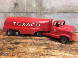 VINTAGE TEXACO TANKER Truck Buddy L Pressed Steel Metal Toy Gas Oil ... Amazoncom Ertl 9385 1925 Kenworth Stake Truck Toys Games Texaco Cast Metal Red Tanker Truck By Ertl For Sale Antiquescom Vintage Toy Fuel Tractor Trailer 1854430236 Beyond The Infinity 1940 Ford Pickup With Lot Detail Two 2 Trucks Colctible Set Schrader Oil Vintage Buddy L Gas Pressed Steel Antique Tootsietoy 1915440621 Sold Diamond T 522 Livery Rhd Auctions 26 Andys Toybox Store 273350286110 1990 Edition 7 Stake Coin Bank Collectors Series 9 1961 Buddy