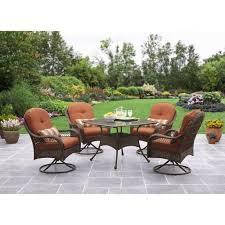 Walmart Patio Cushions Better Homes Gardens by Better Homes And Gardens Azalea Ridge 5 Piece Patio Dining Set