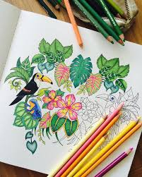 Bright Colored Pencils Make This Coloring Page Fun