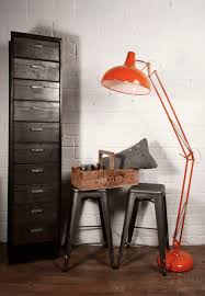 Threshold 3 Arm Arc Floor Lamp by Local News New Vintage Shop Industry Orange Floor Lamps