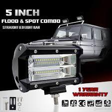 100 Work Lights For Trucks 2019 5 Inch 72W LED Light Bar Offroad Flood Beam Led