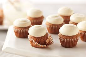 Bite Size Carrot Cake Cupcakes with PHILADELPHIA Cream Cheese Frosting