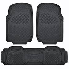 BDK All Weather MT-713 Black Heavy Duty 3-Piece Car Or SUV Or Truck ...