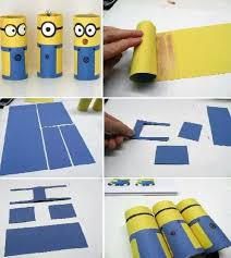 Toilet Paper Roll Minions Craft For Kids