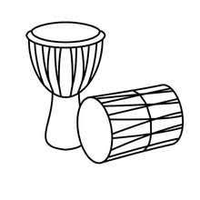 Happy Kwanzaa Drums Coloring Page